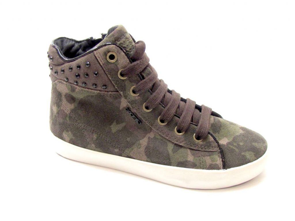 Sneakers Alte junior Geox J64D5C3005 KIWI GIRL 3641 Olive